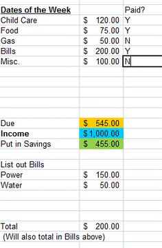 Awesome Budget Spreadsheet! Plug in your income & bills, it does the planning for you!