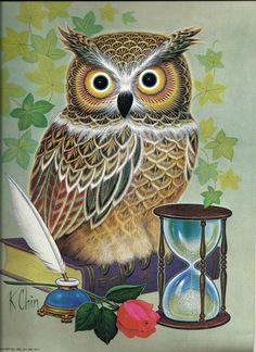 Owl Print, Vintage K Chin