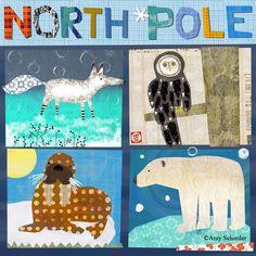 North Pole illustrations, illustrators, north pole