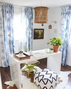 DIY tie dye curtains with this tutorial.