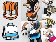 JUMPFROMPAPER! Oh y gosh, I need one of these bags! So cool!