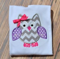 Cute Owl Applique Shirt by APersonalThing on Etsy, $14.00