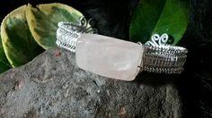 pink quartz, wire creation, etsi marketplac, thing etsi, wire cuff, cuffs, etsi fave, quartz wire
