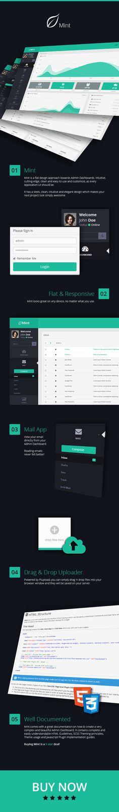 Mint - #Flat & #Responsive #Admin #Dashboard #Template