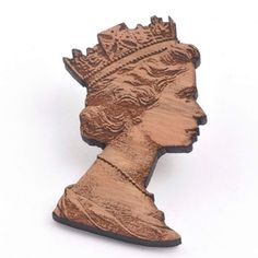 Queen Brooch by Anita Gohil  £20  Victoria and Albert Museum