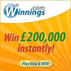 #Winnings £5 Free Bonus, No Deposit Required! Win up to £200,000!
