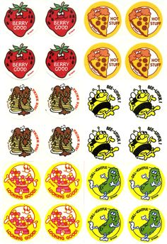 Vintage scratch n' sniff stickers