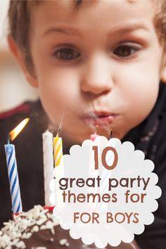 10 Great Boy Birthday Parties from Last Week