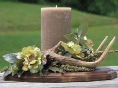 Rustic Deer Antler Flower Arrangement Silk by TheVineDesigns, $124.95