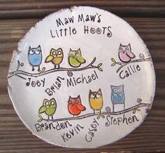idea for handprint plate