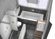 Badkamer bathroom on pinterest - Badkamer indeling ...