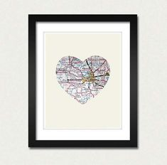 map heart diy gifts for college, baby gifts, off to college gift ideas, college gifts for girls diy, child moving gift, anniversary gifts, college girl gifts, leaving for college gifts, diy college gifts