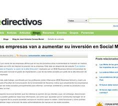 Las empresas van a aumentar su inversión en Social Media via @edirectivos