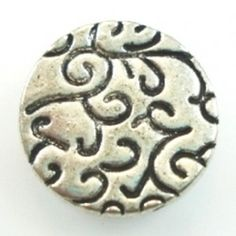 Silver Curl Round Large Bead - 1 - Spoil Me Silly Jewellery