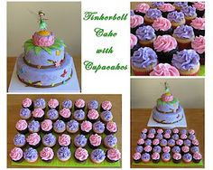 Sweet Little Cakes: Tinkerbell Cake with Pixie Dust Cupcakes