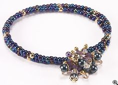 Jewelry Making Idea: Evening Hush Memory Wire Bracelet (eebeads.com)