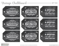 In love with these Free Printable Vintage Chalkboard Gift Tags from Botanical PaperWorks