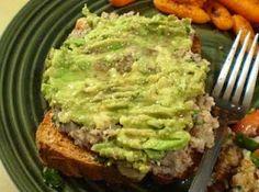 From cheaphealthygood.blogspot.com.  Alton Brown's sardine avocado open-face sandwich.