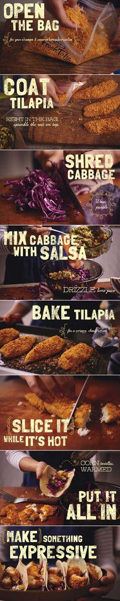 Delicious, simple tilapia tacos.