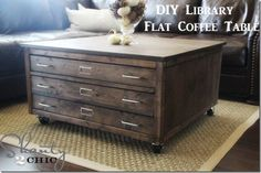 DIY Pottery Barn Inspired Coffee Table