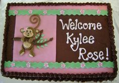 monkey baby shower By eatCakes on CakeCentral.com