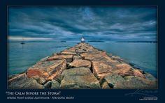 Break Water Lighthouse Rockland, Maine