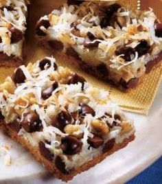 ate these yesterday and they were AMAZING (and I don't even like coconut)   Seven Layer Magic Cookie Bars