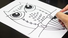 how to draw an owl, owl art projects for kids, teaching kids, owl projects for kids, music projects for kids