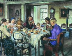 This is my board, so I'm saying I can include a painting here, too. :) russian artist painter, tea parti, drink tea, nikolay bogdanovbelski, drinking, famili, nikolai bogdanovbelski, 1913, bogdanovbelski russian