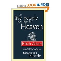 Such a lovely book full of things to think about. Quick to read too as it's only about 100 pages. Mitch Albom has a wonderful style of writing.