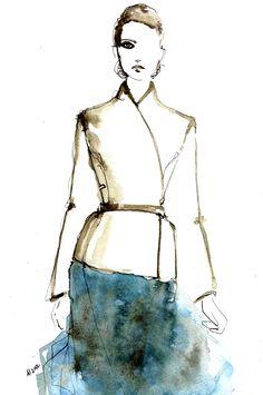 Alexander Terekhov Fall Winter 2012-2013 - Fashion Illustration