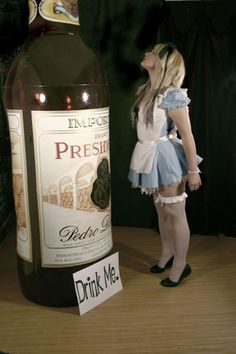 Drink me, Alice in Wonderland cosplay.