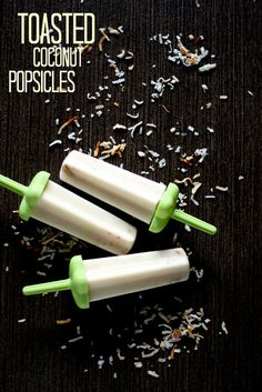 Toasted Coconut Popsicles