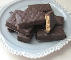 Chocolate covered peanut butter and graham crackers