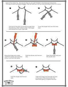 How To Tie A Bow Tie, with words