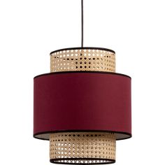 Suspension - luminaire en cannage / Weaved cane ceiling light