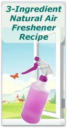 3-Ingredient Natural Air Freshener Recipe - Natural Holistic Life #natural #air #freshener #holistic