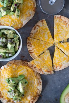 Cheese Crisps with Avocado Salsa - What's Gaby Cooking