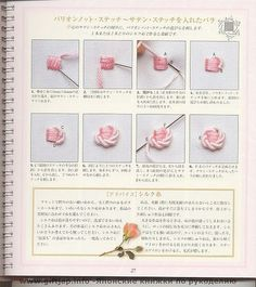Rose embroidery tutorials, stitch 13, embroidery roses, broderi, bordado, embroidery stitches, angels, embroideri stitch, flower