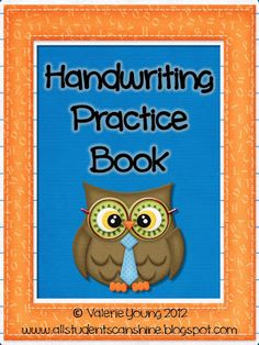 """Handwriting Practice Book - 52 pages of """"Draw and Write"""" Practice pages! $"""