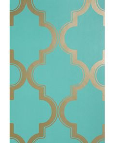 Adehsive wallpaper like this will add a punch of color and can easily be removed.