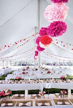 A Summer Wedding Idea: Pink everywhere!