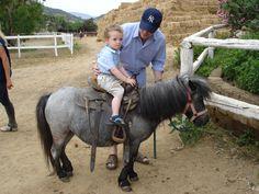 First pony ride. Sardinia, Italy.