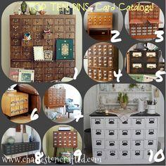 card catalog inspiration mood board