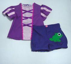 Princess Rapunzel - Tangle - Set - Pants/Shirt - Every Day use size 1M-2T
