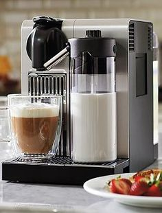 An essential to any coffee-lover's kitchen, the state-of-the-art Nespresso Lattissima Pro.
