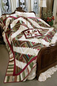 Spinning Logs by Bev Getschel, featured in Quilters Newsletter's Best Fat Quarter Quilts 2012