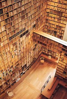 IMAGEN: Library in the Ryotaro Shiba Museum by Tadao AndoLibrary in the Rothyo via Mar delaRisa