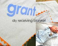diy receiving blanket tutorial- great baby gift and easy too!