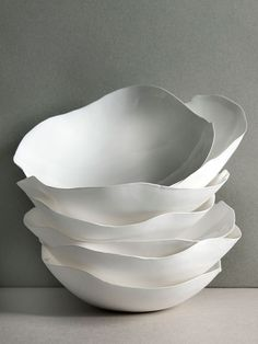 White Ruffles Food Plates